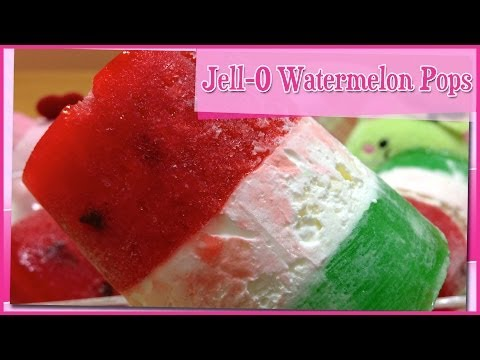 Jell-O Watermelon Ice Pops ~ スイカゼリーアイス