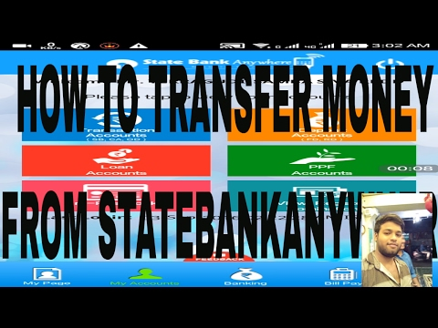 How to transfer money using state Bank anywhere android mobile app