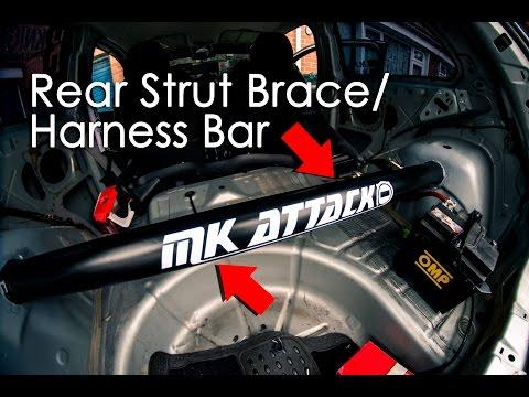 Rear Harness Bar/ Strut Brace Install | Fiesta MK6 Build | DIY