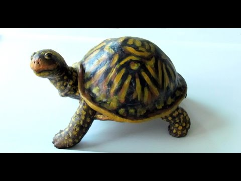 Turtle made with air dry clay