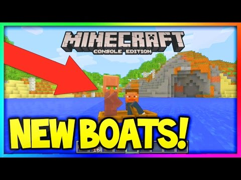 Minecraft (Xbox360/PS3) How to get Villager in a Boat - Easy tutorial