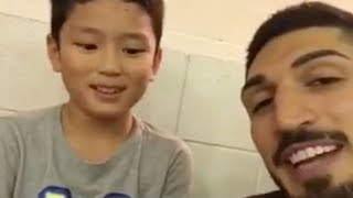 Enes Kanter Tells INNOCENT CHILD To Burn Kevin Durant