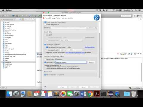 Deploying a Google App Engine(Cloud) application using Java