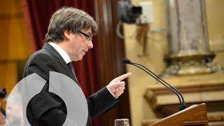Este es el momento clave en el discurso de Puigdemont sobre la independencia