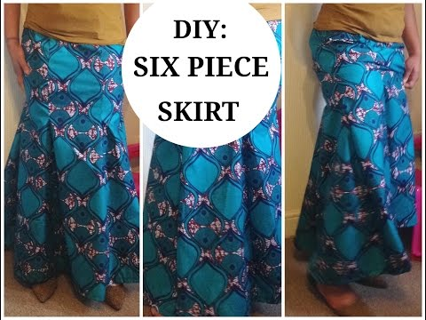 DIY :HOW TO CUT A SIX PIECE SKIRT| MERMAID SKIRT( EASY SEWING) PART 2
