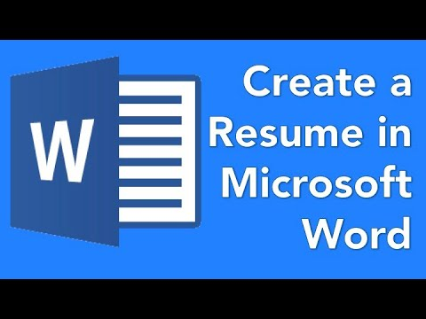 Microsoft Word 03 How to create a resume for a high school student