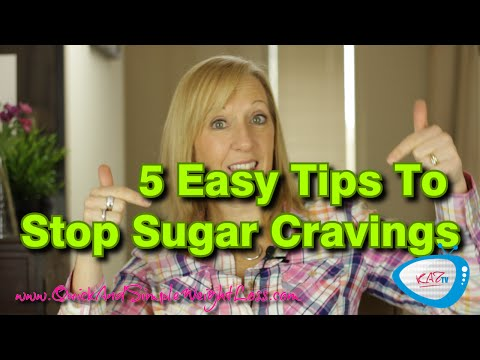 5 Tips To Stop Sugar Cravings