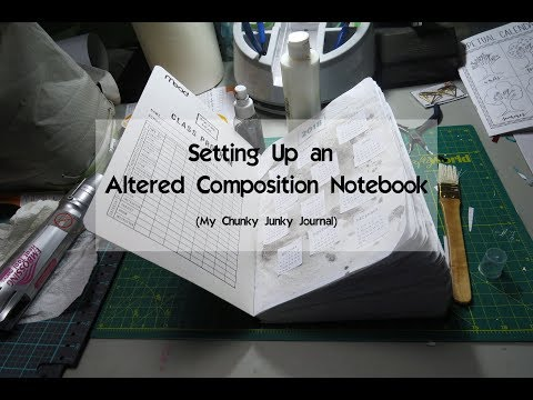 Setting Up My Altered Composition Notebook | My Chunky Junky Journal