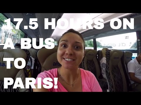 From MADRID to PARIS (17.5 Hour Bus Ride)--Long Term Budget Travel  //  061