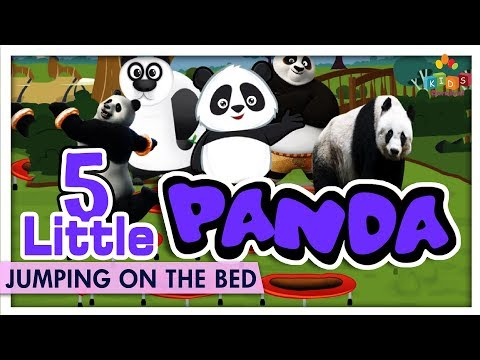 Five Little Panda Jumping On The Bed - Jumping On The Bed Kids Rhymes - Kids Carnival