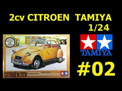 Maquette 2cv Citroën Tamiya 1/24 part 2