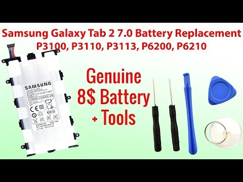 8$ Battery + Tools Samsung Galaxy Tab 2 7.0 Battery Replacement P3100, P3110, P3113, P6200, P6210