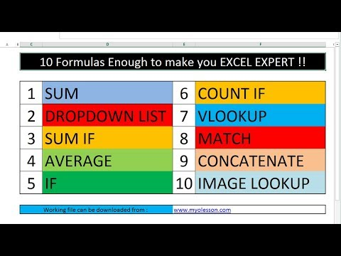 10 Most Important Excel Formula Can Make YOU Excel Expert
