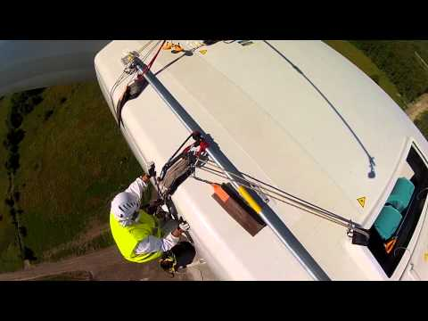 Wind turbine maintenance, blade inspection - Rope Access jobs with IRATA level 3