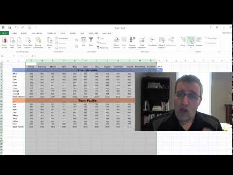 Group rows and columns in Excel
