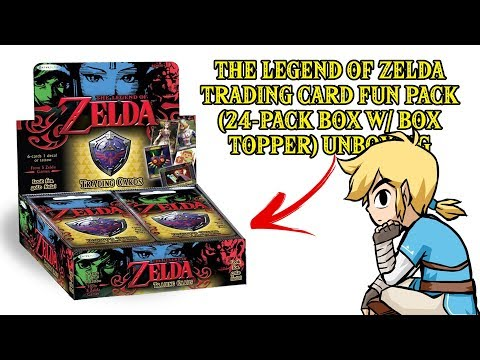 ZELDA: COLLECTABLE TRADING CARDS (24-PACK UNBOXING!!!)