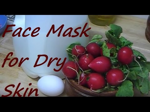 How to Make Natural Face Mask for Dry Skin with Radish Milk and Egg Yolk