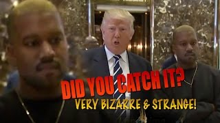 TRUMP meets Kanye WEST but did you Notice this BIZARRE Strange Behaviour? BUSTED!