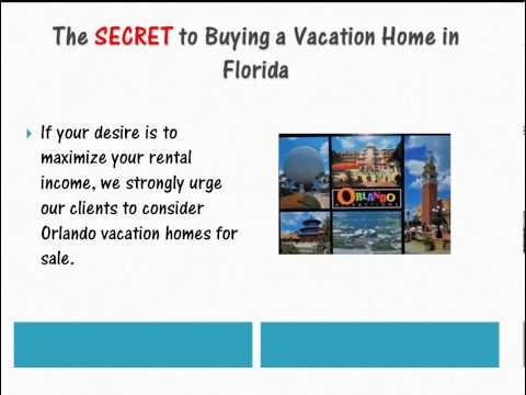 Secret To Buying A Vacation Home in Florida