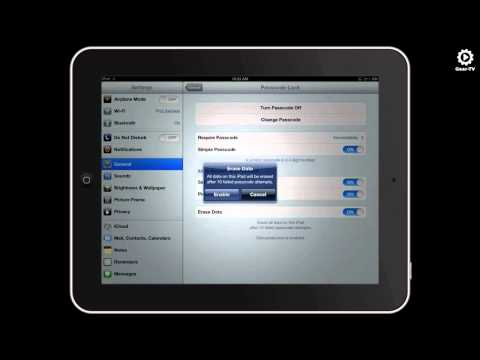 How To Lock an iPad