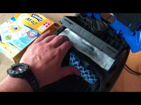 How to replace bag and filter on Miele Classic C1 Olympus Vacuum Cleaner Corded bag changing DIY