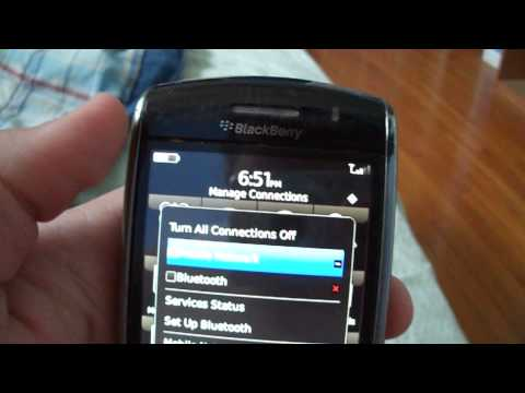 BlackBerry Storm 9530 how to enable/disable Wireless Connection to the Mobile Network