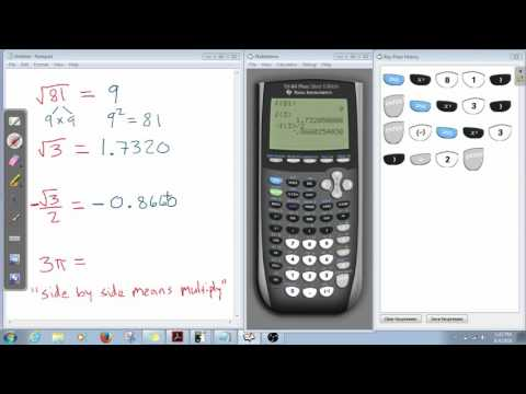 USING TI-84 WITH SQUARE ROOTS AND PI