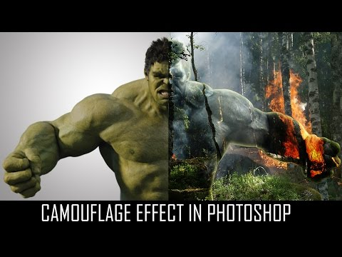 Photoshop Camouflage Effect : Camouflage Invisible Effect