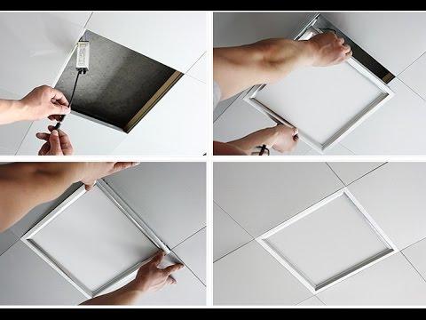 Suspended Ceiling Ultraslim LED Panel Installation how to motion lightswitch hidden motion sensor