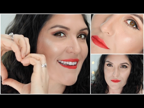 Valentine's Day Makeup | Get Ready With Me | Winged Eye Liner