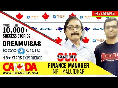 Ketan, a financial accountant receiving his Canadian PR visa with Manoj Palwe