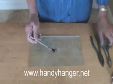Installing Handy Hangers for Stained Glass & Fused Glass