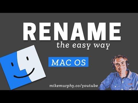 How To Rename Files & Folders on a Mac (Shortcut Key)