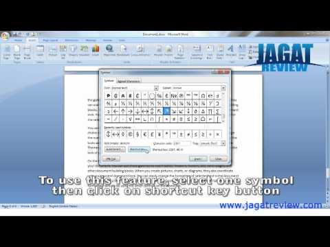 Microsoft Word 2007 - Shortcut Symbol