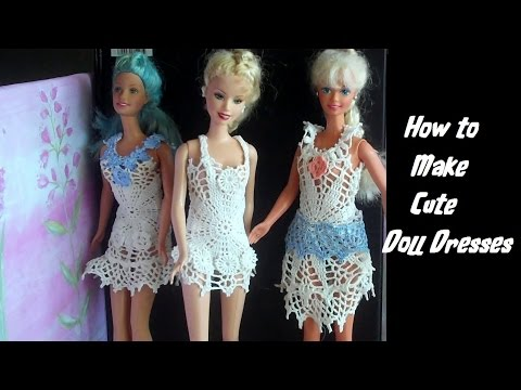 How to Make: Cute Doll Dresses - Doll Crafts