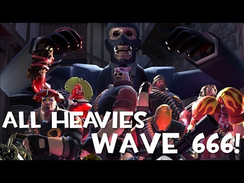 TF2: Attempting to Beat Wave 666 With All Heavies! (feat Doplr, NyA & others)