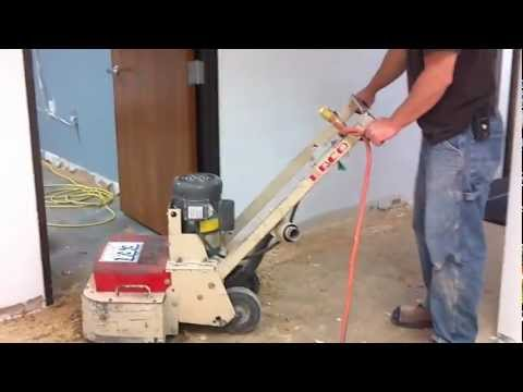 Removing Carpet Glue From Concrete Floor