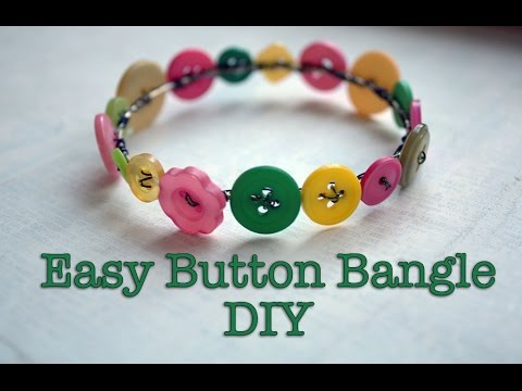 Easy Button Bangle DIY