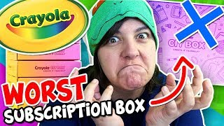 I'M SERIOUSLY ANGRY! Spent 100$ on Crayola's Subscription Box arts & crafts supplies