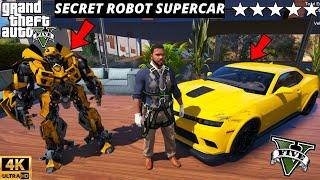 GTA 5 : I STOLE A SECRET ROBOT CAR FROM CAR SHOW 😱