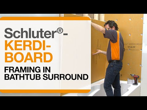 Schluter®-KERDI-BOARD over Framing in Bathtub Surround Applications