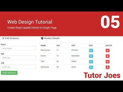 Add New Row of a Table By appendTo in jQuery In Tamil