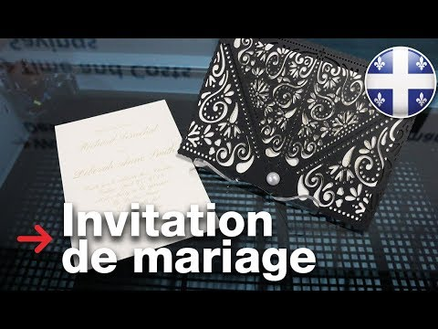 Invitation de mariage découpée au laser | Découpe laser de papier
