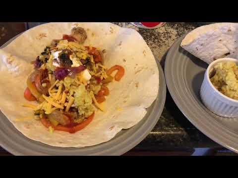 Chicken Fajitas Yellow Curry Rice# thedailydinnerbell