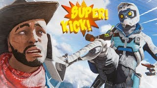 *NEW* SUPER KICKS IN APEX!? - Best Apex Legends Funny Moments and Gameplay Ep 405
