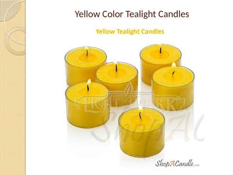 Dripless Yellow Tealight Candles Wholesale At Shopacandle