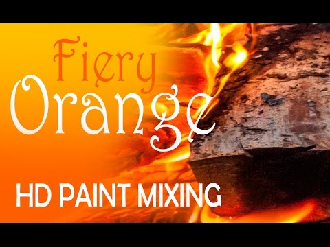 HD Paint Mixing - 'Fiery Orange' Colour