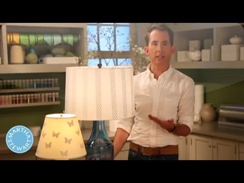 How to Personalize Your Lampshade - Martha Stewart
