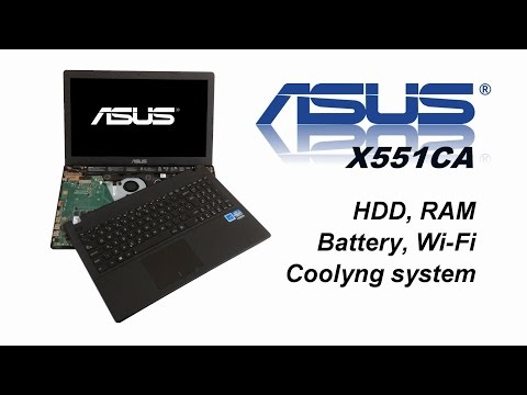Asus X551- HDD, RAM, Keyboard, Battery, CMOS Battery, Cooling Fan System, Thermal Paste, Replacement