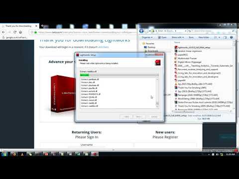 How to install LightWorks ( Free Video Editing Software) on Windows Operating System